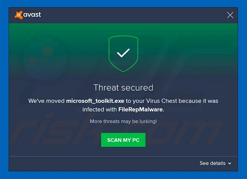 what is FileRepMalware pup