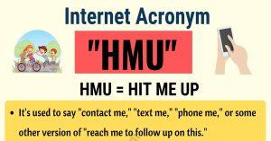 HMU Mean Text